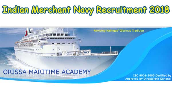 Indian Maritime Recruitment 2018 Odisha Maritime Academy
