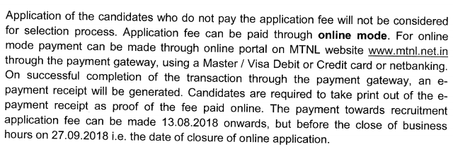 MTNL Asst Manager Recruitment 2018
