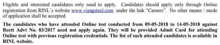 Apply For Vizag Steel Plant Recruitment 2018